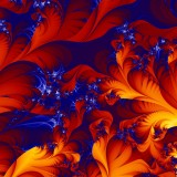  3D Fractals Fiery Floral Blossom