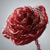 Abstract Red Rose Woven Of Threads