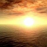  Ocean Sunset 3D Picture