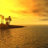  Tropical Beach Sunset 3D