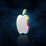  3D Apple Logo In Space