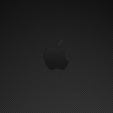  Carbon Fiber Apple Logo