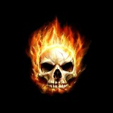 Flaming Skull Wallpaper