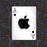 Apple Ace Playing Card