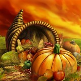  Harvest Thanksgiving Cornucopia