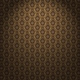  Vintage Brown Pattern Wallpaper