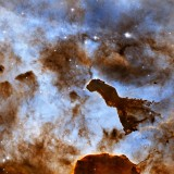  Carina Nebula Is A Cosmic Ice Sculpture