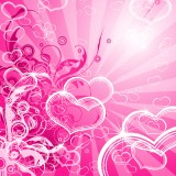  Abstract Pink Hearts Layout